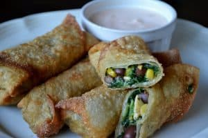Southwestern Egg Rolls With Chipotle Dipping Sauce